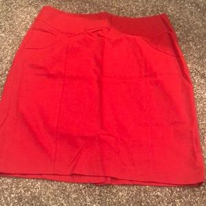 The Limited Red Pencil Skirt